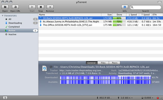 Utorrent 1.8.5 mac